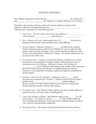 Sublease Contract Template Fantastic Sublease Contract Template Collection Documentation 20