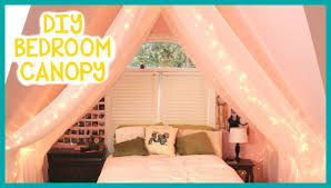 Bed Canopy Diy Easy Diy Bedroom Canopy Reupload Youtube