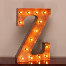 24 marquee letter lights 24 letter z lighted vintage marquee letters with screw on sockets 1 v=