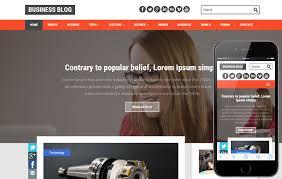 Blog Website Templates Mesmerizing Business Blog A Blogging Category Flat Bootstrap Responsive Web