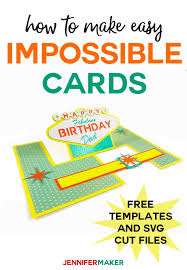 It's easier to greet her on twitter, but making. Impossible Card Templates Super Easy Pop Up Cards Jennifer Maker