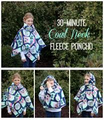 Fleece Poncho Pattern With Hood Delectable 48Minute Cowl Neck Fleece Poncho Tutorial Gluesticks