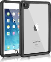 Amazon.com: iPad Mini 4 Waterproof Case, Meritcase iPad Mini 4(7.9 inch,  IP68 Waterproof Full Body Snowproof Dustproof Shockproof Case with Touch ID  and Kickstand for Snowmobile Swimming Surfing Diving- (Black)