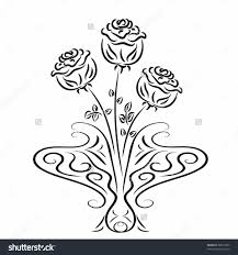 Small Picture Roses In A Vase Coloring Page 3InPrintable Coloring Pages Free