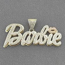 details about solid 10k gold personalized nicki minaj barbie name pendant custom jewelry nd62