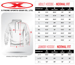 Pullover Size Chart Sizing Charts