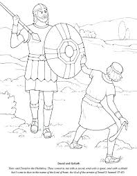 Coloring Pages David And Goliath Coloring Sheet Fight Page Free