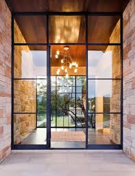 clear glass installed in steel doors glass wall systems gallery residential s anchor
