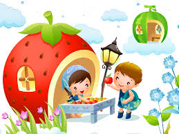 cartoon ilration cartoon strawberry house 1600 1200 puter wallpaper play art food plant fruit child toddler organism cartoon happiness