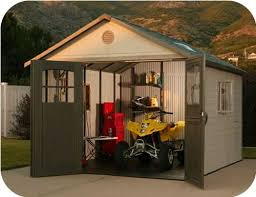 lifetime 11x13 plastic storage shed w 9 doors 60187 0125