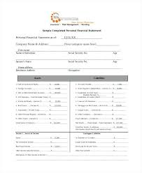 L Net Worth Statement Form Format For Visa Examples Of Personal ...
