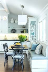 white dining table with bench lovely eat in kitchen is filled with a built in dining