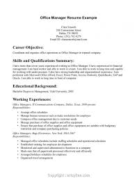 Newest Resume Sample Office Manager Position Simply Job Description