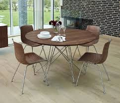 modern round wood dining table design
