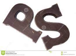 Chocolate letter P and S stock photo ...