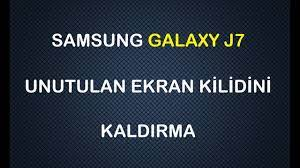 Samsung Galaxy j7 Şifre Kırma - YouTube