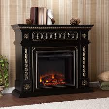 southern enterprises donovan 47 inch electric fireplace black gold fe9661 gas log guys