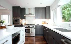 Grey Shaker Kitchen Cabinet Gray Cabinets Light White With Island