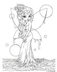 Small Picture Printable beautiful Fairy on Water coloring in pages for kidsFree
