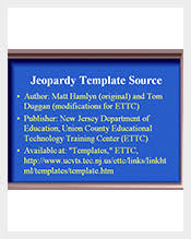 64+ Jeopardy Templates – Free Sample, Example, Format Download ...