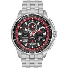 men s citizen jy8059 57e watch francis gaye jewellers men 039 s red arrows skyhawk a t steel radio controlled watch