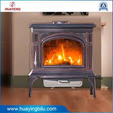 enamel cast iron wood burning stove
