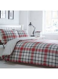 the collection checked somerset bedding set red super king