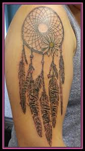 Dream Catcher Names Magnificent Dreamcatcher With Feathers And Children's Names Dolly's Skin Art