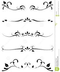 decorative ornamental rules stock photos  image