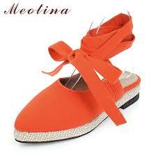 Meotina <b>Spring</b> Flats Shoes Women Fashion Flat Ankle Strap Shoes ...