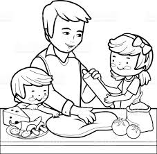 Small Picture Picture Of Mom In Kitchen Colouring Pages Cooking Coloring Pages