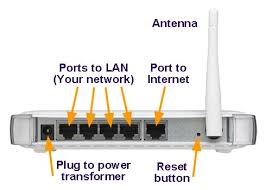 everything you need to know about home networking from netgear support page showing the ports on the back of a typical router