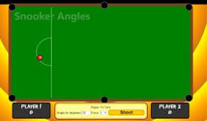 Transum Pie Charts Snooker Angle Estimation