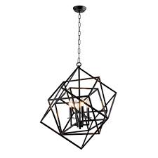 y decor candle style 4 light matte black chandelier