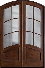 Front Door Custom - Double - Solid Wood with Walnut Finish, Classic ...