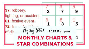 How To Use Flying Star Chart Monthly Flying Star Charts For 2019 And The Year Month Star