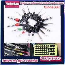 <b>18 Pcs</b> Car Wire Harness Plug <b>Terminal Extraction</b> Pick <b>Connector</b> ...