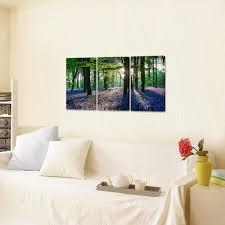 Romantische Bluebell In Bos Hd Doek Wall Art Voor Woonkamer