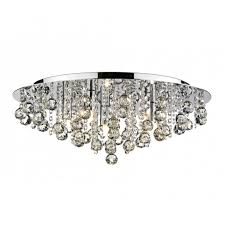 the lighting book pluto large chrome crystal chandelier for low ceilings