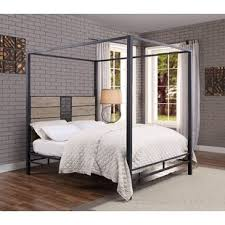Queen Canopy Bed Frame Wood | Wayfair