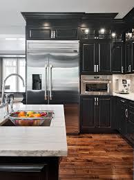 custom black kitchen cabinets. Beautiful Custom BrilliantMicrowaveBesideFridgeblackbridgefaucetbuiltincustomdark Woodcabinetsebonygasrangeglassgreyhardwoojpg 740990 To Custom Black Kitchen Cabinets T
