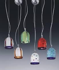 murano glass multi coloured hanging pendant