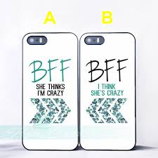 Bff Quotes Unique Capa Floral Best Friend BFF Quotes Couple Cases For IPhone X 448 448Plus