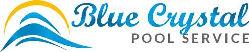 pool service logo. Blue Crystal Pool Logo Service