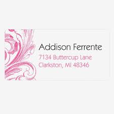 Chic Blossoms Personalized Wedding Address Labels Pear Tree