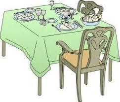 dinner table clipart. clip art dinner table setting clipart suggest