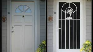 decorative security screen doors. Decorative Security Screen Doors White Door With Palm Amazing Within 4 M
