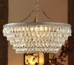 clarissa glass drop large round chandelier by distributed by williams sonoma inc to