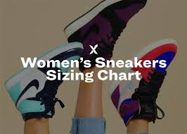 Womens Sneakers Sizing Chart Stockx News