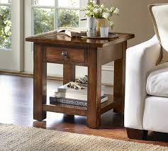 rustic end tables. Benchwright Square Side Table, Rustic Mahogany End Tables
